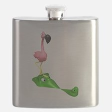 Flamingo and Gator.png Flask