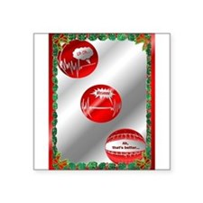 """WhewXmasCard.png Square Sticker 3"""" x 3"""""""