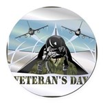 veteransday.png Round Car Magnet