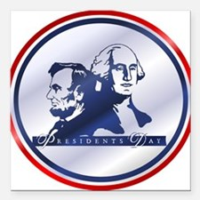 """holidays_presidents_orn.png Square Car Magnet 3"""" x"""