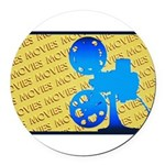 MoviesOrn.png Round Car Magnet