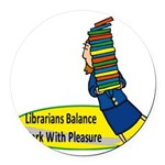 2-librarian6.png Round Car Magnet