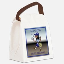 mailCarrierBLMaleTile.png Canvas Lunch Bag