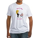 Due In May Girl Fitted T-Shirt