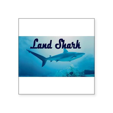 """LandSHARK100.png Square Sticker 3"""" x 3"""""""