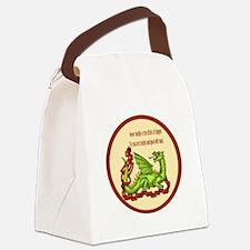 dragonRoundShirt.png Canvas Lunch Bag