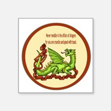 "dragonRoundShirt.png Square Sticker 3"" x 3"""