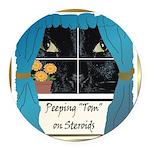 PeepingTom.png Round Car Magnet