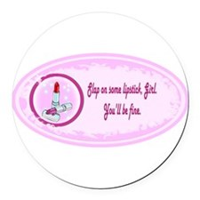 lipsticks.png Round Car Magnet