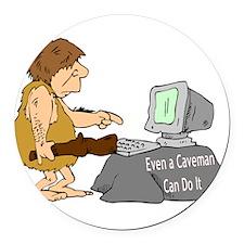 cavemancomputer.jpg Round Car Magnet