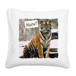 ITouch2-TigerPhotoMeow.png Square Canvas Pillow