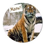 ITouch2-TigerPhotoMeow.png Round Car Magnet