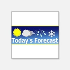"Forecast1.png Square Sticker 3"" x 3"""