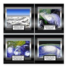 """HurricaneTile.png Square Car Magnet 3"""" x 3"""""""