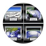 HurricaneTile.png Round Car Magnet