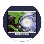 hurricane.png Round Car Magnet