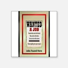 "WantedJobJournalheadhunter.png Square Sticker 3"" x"