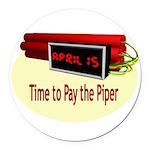april15th2.png Round Car Magnet