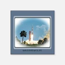 """Apollo16April16-72.jpg Square Sticker 3"""" x 3"""""""