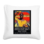AfricaTravelPosterCard.png Square Canvas Pillow