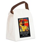 AfricaTravelPosterCard.png Canvas Lunch Bag