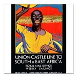 AfricaTravelPosterCard.png Square Car Magnet 3