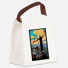semiphoreTile.png Canvas Lunch Bag