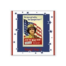 "WW1WACPostersmaller.png Square Sticker 3"" x 3"""