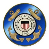 Coast guard Round Car Magnets