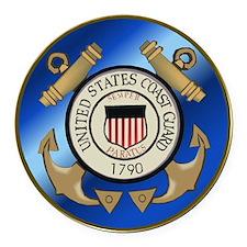 U.S. Coast Guard Cutter Round Car Magnet