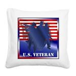 FlagButton.png Square Canvas Pillow