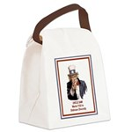 UncleSamOPenMind.png Canvas Lunch Bag