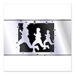 RunnerslicensePlate2.png Square Car Magnet 3