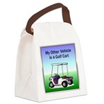 golfcart2Tile.png Canvas Lunch Bag