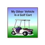 golfcart2Tile.png Square Sticker 3