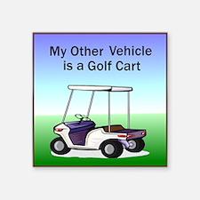 "golfcart2Tile.png Square Sticker 3"" x 3"""