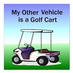golfcart2Tile.png Square Car Magnet 3
