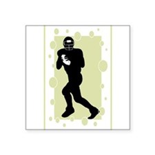 "quarterback.png Square Sticker 3"" x 3"""