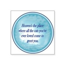 "heavenDogs.jpg Square Sticker 3"" x 3"""