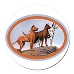 great_danes.png Round Car Magnet