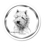 WestieB.png Round Car Magnet
