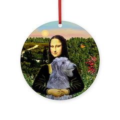 Mona's Scottish Deerhound Ornament (Round)