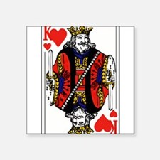 """Cards_deck_heart_king.png Square Sticker 3"""" x 3"""""""