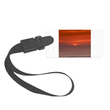 SeaSunsetCurtain.png Small Luggage Tag