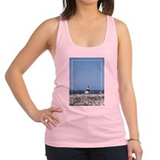 WhiteFlowersLitehouseCurtain.png Racerback Tank To