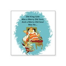 "Old_King_Cole_2_Denslow.png Square Sticker 3"" x 3"""