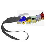 toy_train_BW.png Large Luggage Tag