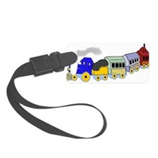 toy_train_BW.png Luggage Tag