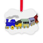 toy_train_BW.png Picture Ornament