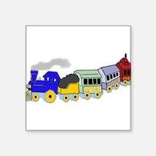 """toy_train_BW.png Square Sticker 3"""" x 3"""""""